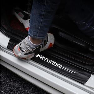 Стайлинг автомобиля 4 шт. наклейки из углеродного волокна на порог двери наклейки из углеродного волокна для Solaris ix35 i20 i30 i40 HYUNDAI Tucson CRETA Santa|Наклейки на автомобиль|   | АлиЭкспресс