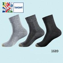 Tanzant Cux copper Fiber antibacterial Socks Men Business leisure Moisture Wicking Ankle Socks Deodorization sports Socks 3 pair цены