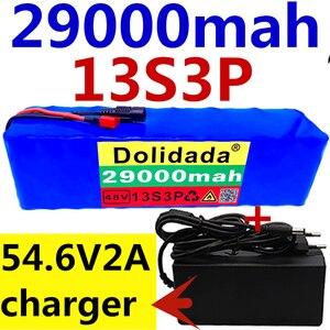Image 1 - 48v ליתיום יון 48v 29Ah 29000mah 500w 13S3P ליתיום יון סוללה עבור 54.6v דואר אופני אופניים חשמליים קטנוע + מטען