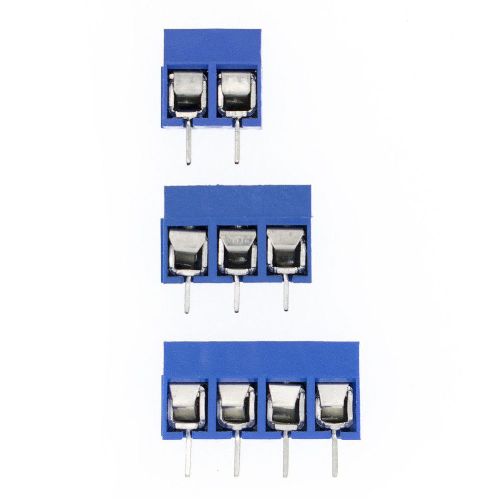 10pcs KF301 2P/3P/4P Blue KF301-5.0 KF301 Screw 5.0mm Straight Pin PCB Screw Terminal Block Connector Splicing Type
