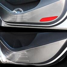 Car Stainless Steel Door Protector Pad Door Plank Anti Kick Pad Anti-dirty Pad Mat Cover Sticker For Hyundai Tucson 2015-2019
