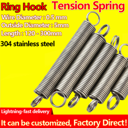 Spots Ring Hook Tension Spring Wire Diameter 0.5mm Outer Diameter 5mm Pullback Spring Draught Spring Extension Spring