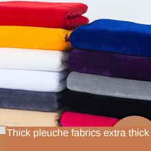 velvet thickened fabric stall table cloth pure black curtain pleuche brocade dress Solid color white red pink blue by the meter