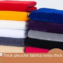 Tela engrosada de terciopelo para mesa de puesto, cortina negra pura, vestido con brocado, color sólido, blanco, rojo, rosa, azul, por metro