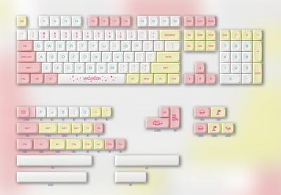1 Full Set PBT Dye Sublimation Macarone Color Keycaps For MX Switch Mechiancal Keyboard Key Cap XDA Profile