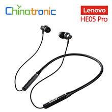 Oryginalny Lenovo HE05 Pro z pałąkiem na kark słuchawki douszne bezprzewodowe słuchawki bluetooth 5.0 IPX5 wodoodporne z mikrofonem z redukcją szumów