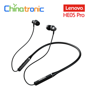 Original Lenovo HE05 Pro Neckband In-ear Earphone Wireless bluetooth 5.0 Headphone IPX5 Waterproof With Mic Noise Cancelling