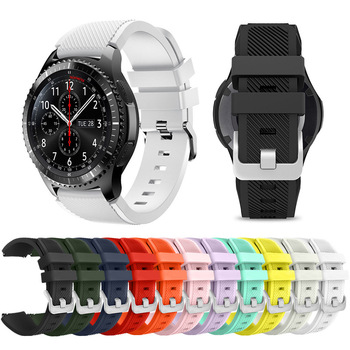 Silicone Band for Galaxy Watch 46mm Sport Strap 22mm Watch Band for Samsung Gear S3 Frontier/Classic Huawei Watch Gt 2e Strap watchbands 22mm sport silicone strap band for samsung gear s3 classic frontier replacement band for huami amazfit stratos 2 2s