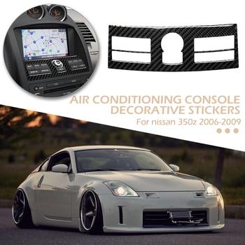 Carbon Fiber Console Radio A/C Control Panel Trim Wide Scope of Application Simplicity Sticker for Nissan 350Z 06-09