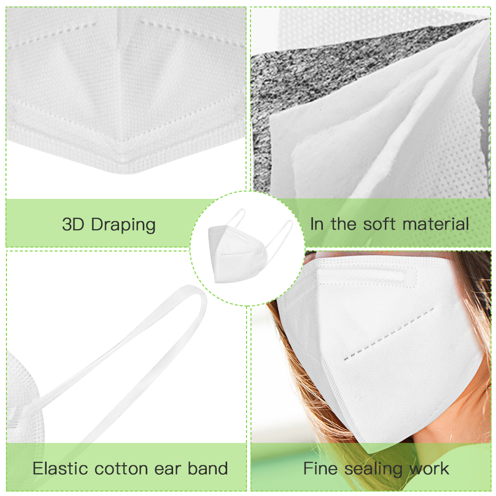 Fast shiping KN95 Mask FFP2 Face Masks Safety 95% Filtration for Dust Particulate Pollution Protective Mouth Mask 5