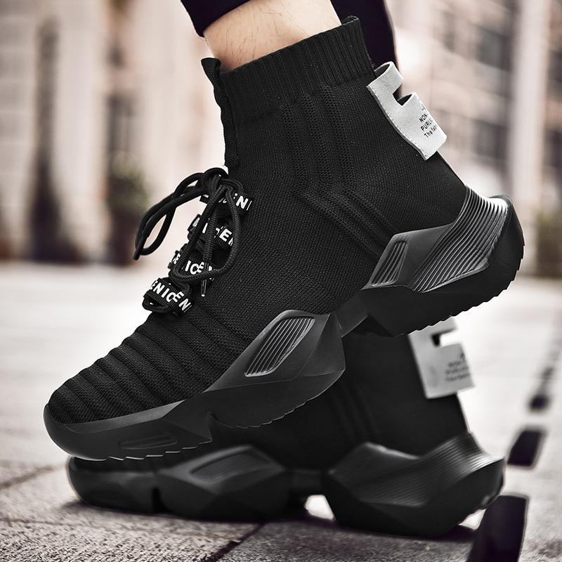 Dam yuan Men's Retro Sock Sneakers Chunky Men Shoes Breathable Men  5