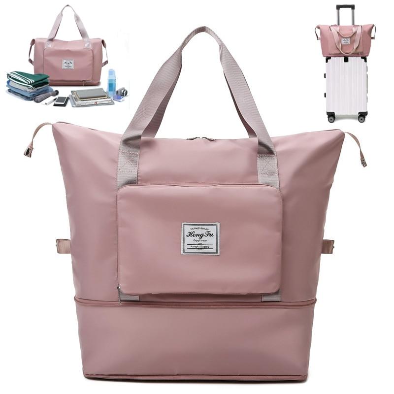 Large Capacity Folding Travel Bags Waterproof Luggage Tote Handbag Travel Duffle Bag Gym Yoga Storage Shoulder Bag For Women Men