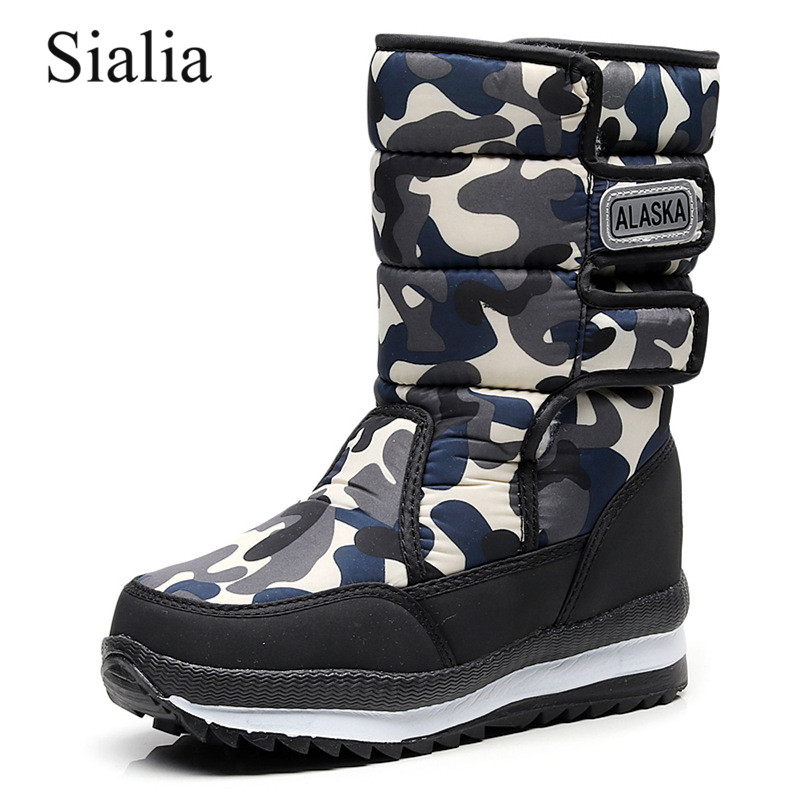 Sialia Winter Children Snow Boots For Kids Shoes Girls Boots Boys Winter Shoes Plush Warm Platform Mid-Calf Bota Infantil 2019