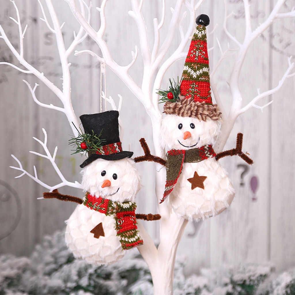 Weihnachten Ornament Nette Schneemann Zarte Schneeflocke Anhänger Weihnachten Baum Fenster Tisch Einfache Dekoration Wohnkultur