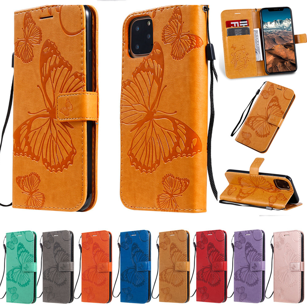 Butterfly Leather Wallet Case for iPhone 11/11 Pro/11 Pro Max 1