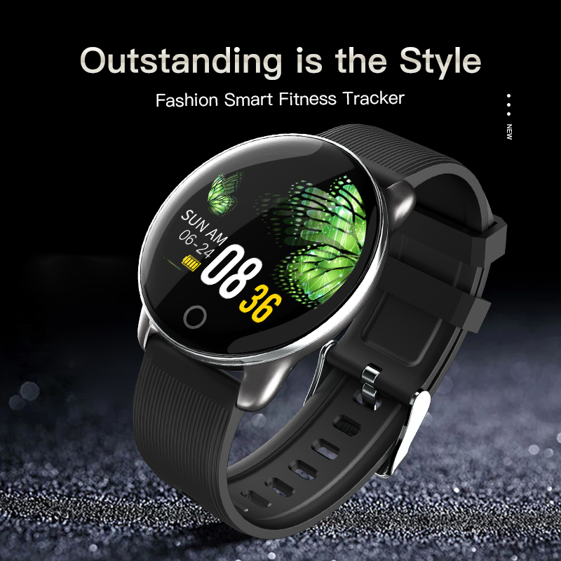 KSUN KSR709 Men Sport Pedometer Smart Watch IP68 Waterproof Fitness Tracker Heart Rate Monitor Women Clock Smartwatch