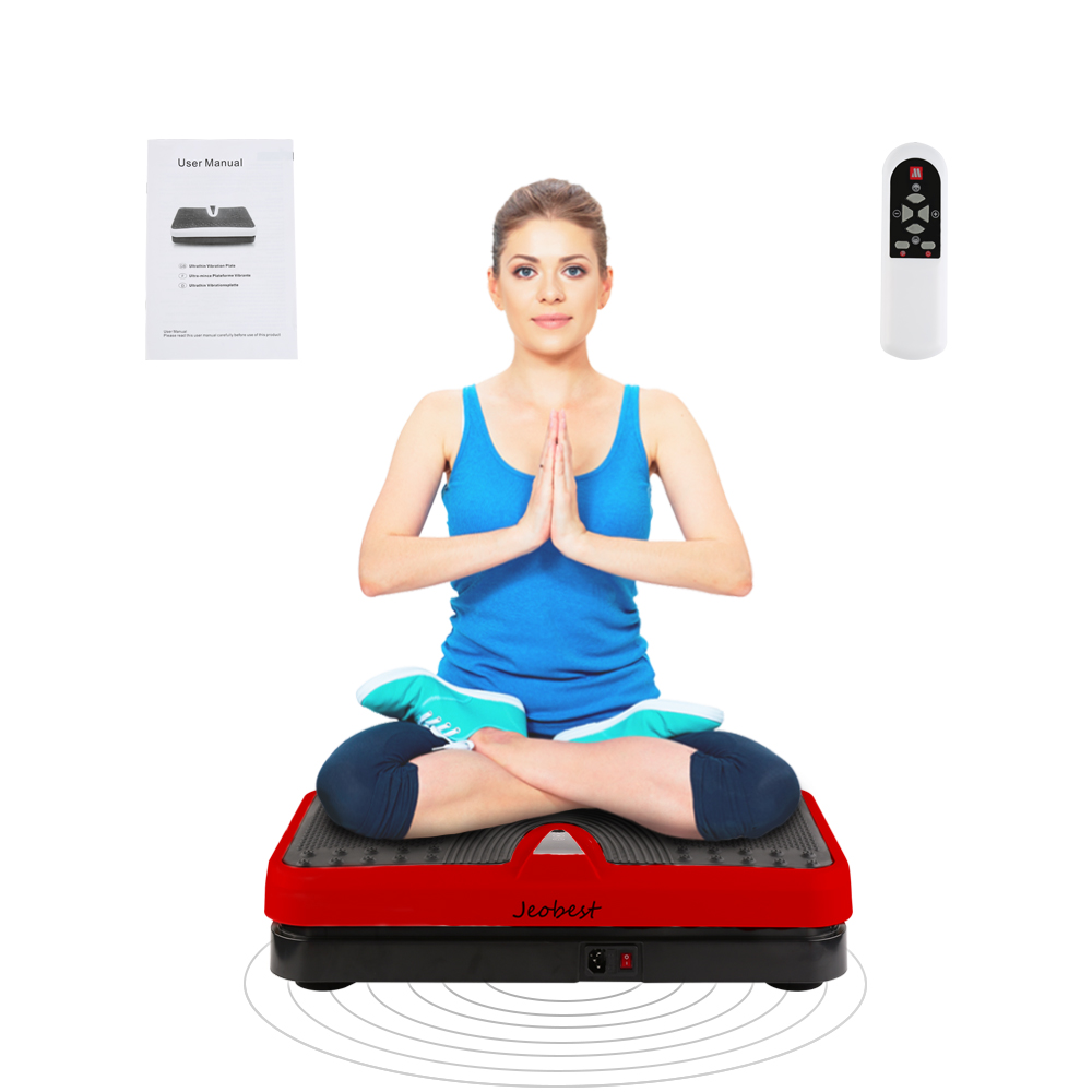Body Fitness Vibration Plate Toiletry Kits Machine Training Platform Plate Women Workout Trainer Power Weight Loss Tools HWC
