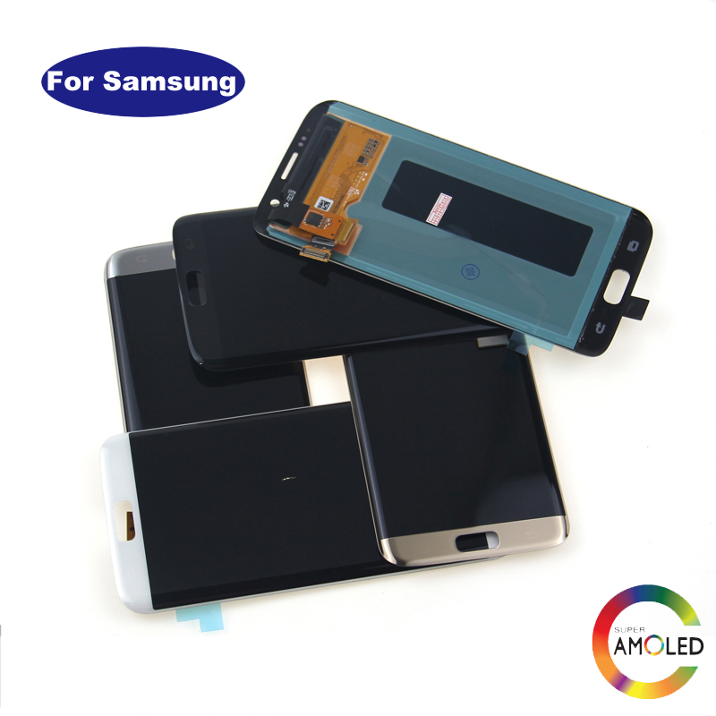 Hot Sale For Samsung S7 Edge G935F G935A G935FD Lcd Display With Touch Screen Digitizer Black White Gold Silver