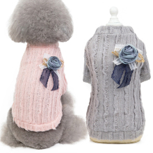 New Pet Dog Sweater 2019 Autumn Winter Knitted Puppy Clothes Cat Warm Jacket Coat Knitwear Costume Apparel