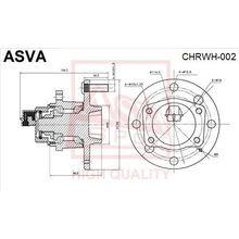 Ступица задняя с датчиком абс ASVA) ASVA CHRWH-002