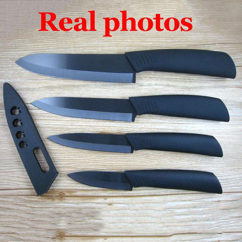 Image 5 - High quality brand black blade kicthen ceramic knife set  3 4  5 6 inch   peeler   Acrylic Holder/stand Chef Kitchen knifeknife  d2knife doubleknife ceramic