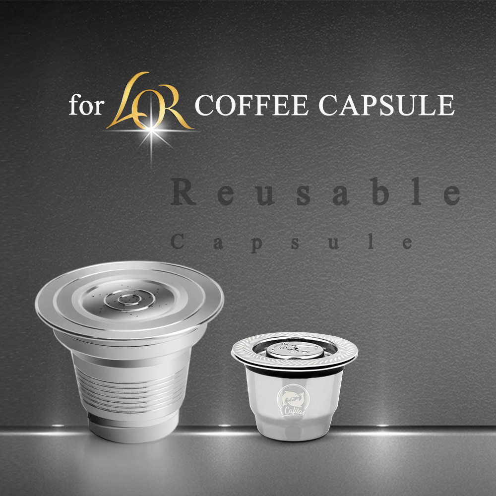 Two Size Double Cup Reusable Refillable Coffee Capsule For LOR Coffee Maker Stainless Steel Filters For L'Or Barista Machine
