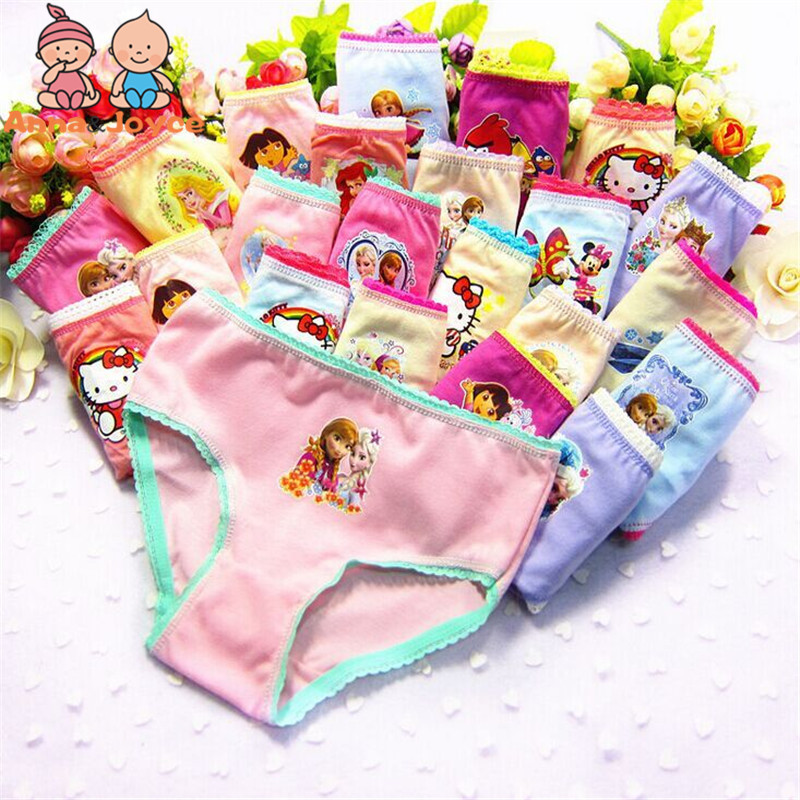 12pcs/lot Factory Pirce Girls Panties Girls  Briefs  Kids Underwear Girls Clothes  2--12 Years