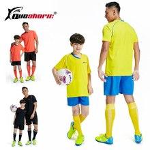 Queshark одежда для футбола для родителей и детей футболка с короткими рукавами для Отца и Сына+ шорты Одежда для тренировок одежда для баскетбола