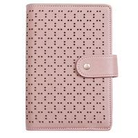 A6 Imitation Leather Notebook Planner School Notebook Stationery 6 Hole Spiral Ring Binder Notebook Diary