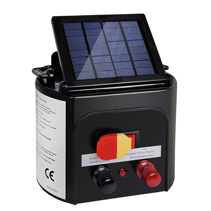 Solar Power Electric Fence Energiser Charger Farms Livestock Animals Fencing Electric Fence Energizer Controller Battery Protect
