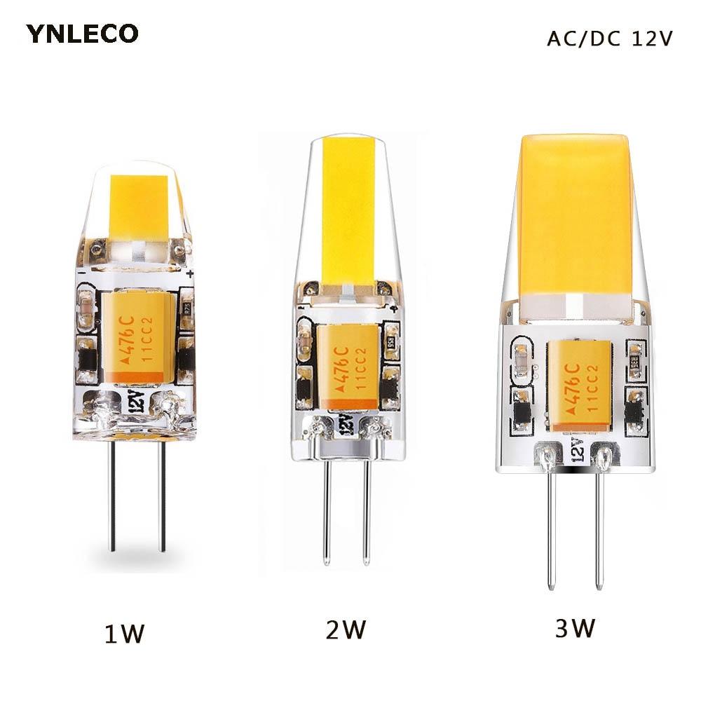 1W 2W 3W G4 LED COB Bulb 12V AC DC LED G4 Light Bulbs Lamp 360 Beam Angle Replace 10W 20W 30W Halogen For Chandelier Spotlight