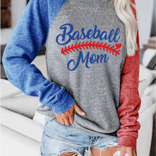 Tops Tee Raglan-Sleeve Baseball Loose Women Tee-Print Harajuku Autumn O-Neck Top-S-2xl
