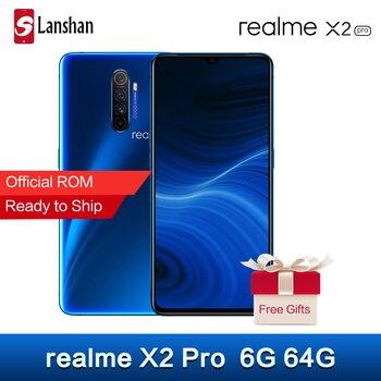 Перейти на Алиэкспресс и купить Оригинал realme X2 Pro 12 Гб 256 ГБ Snapdragon 855Plus флагманский мобильный телефон 6,5 дюймов 64-мегапиксельная четырехъядерная камера мобильный телефон NFC ...