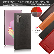 Pierre Cardin For Samsung Galaxy Note 10 Plus 5G Vintage Genuine Leather Phone Case Note10 Hard Back Cover