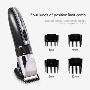 Image 4 - Kemeiバリカン充電式電気バリカン男性低ノイズヘアドライヤーシェービングマシンプロフェッショナルコードレス散髪ツール43D