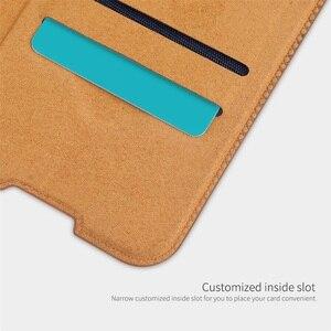 Image 4 - For Huawei P40 Lite Nova 7i Flip Case Nillkin Qin Vintage Leather Flip Cover Card Pocket Case For Huawei Nova 6SE Phone Bags