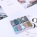 WH Nail Art Transfer Foil Stickers Extension Stamping Gold Slider Shimmer Sticker Decoration Tools Nail Polish Strips Wraps