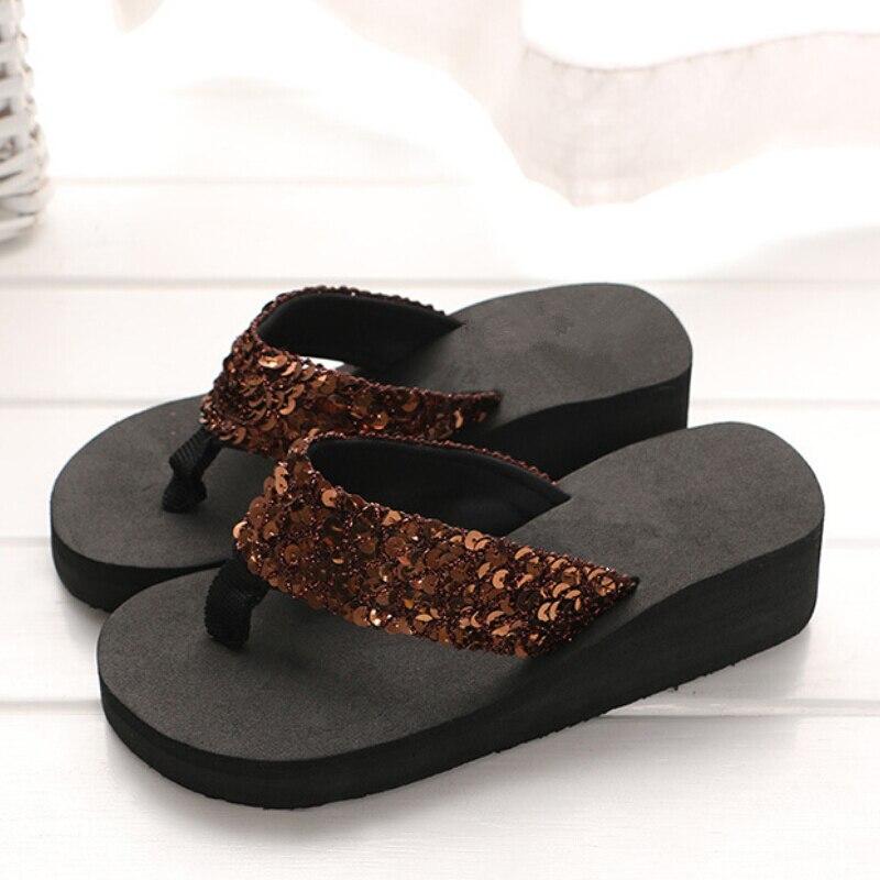 Rhinestone Women Slippers Flip Flops Summer Women Crystal Bling Beach Slides Sandals Casual Shoes Slip On Slipper Bath Shoes