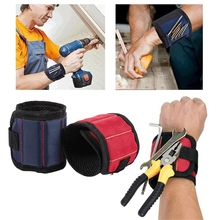 Магнитный браслет, Портативная сумка для инструментов с 3 магнитами, электрик, ремень для запястья, шурупы, гвозди, сверла, браслет для ремонта, инструмент