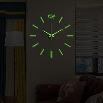 50cm 3D Wall Clock Modern Design DIY Acrylic Mirror Stickers Clock for Living Room Bedroom Home Decor Large Silent Elreloj Mural 11