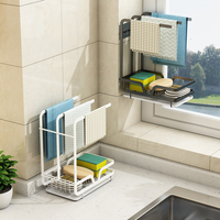 Tendedero de toallas para cocina, estante organizador con bandeja, accesorios de cocina, organizador de almacenamiento