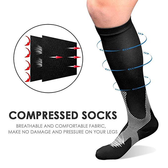 High Elastic Unisex Compression Stockings Fit For Football Anti Fatigue Leg Protection For Men Women Breathable Quick-Dry Socks