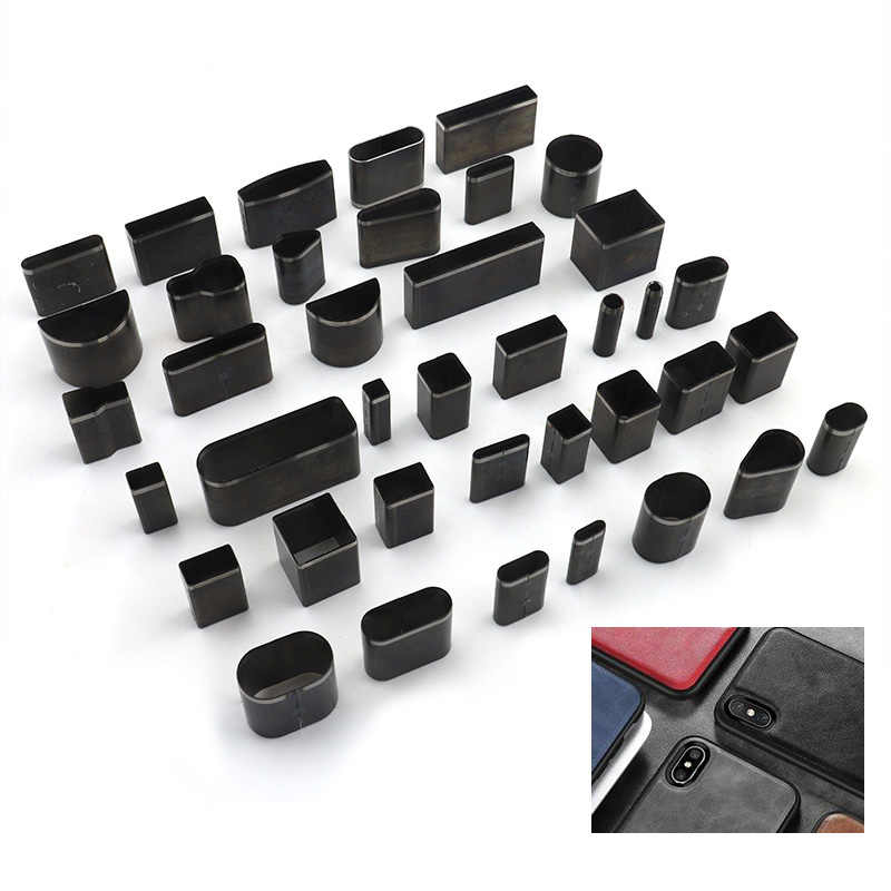 7Pcs Manual Leather Cutting Mold Hole Hollow Punch Cutter Tool Leather Craft ...