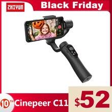 ZHIYUN Official CINEPEER C11 3 Axis Phone Gimbals Smartphone Handheld Stabilizer for iPhone/Samsung/Xiaomi Vlog vs Snoppa/DJI