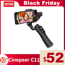 ZHIYUN Officiel CINEPEER C11 Gimbal Stabilisateur Smartphone 3 Axes Handheld Stabilisateur Compatible avec iPhone 11 XS Huawei Xiaomi Samsung Android VLOG VS Funsnap DJI