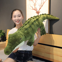 One Piece Large Green Crocodile Plush Toy PP Cotton Stuffed Doll Soft Sleeping Pillow Cushions Valentine Day Birthday Presents