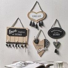 Креативная деревянная дверная табличка, настенная, гостиная, спальня, семья, теплое домашнее украшение, кафе, ресторан, добро пожаловать, дверной крючок