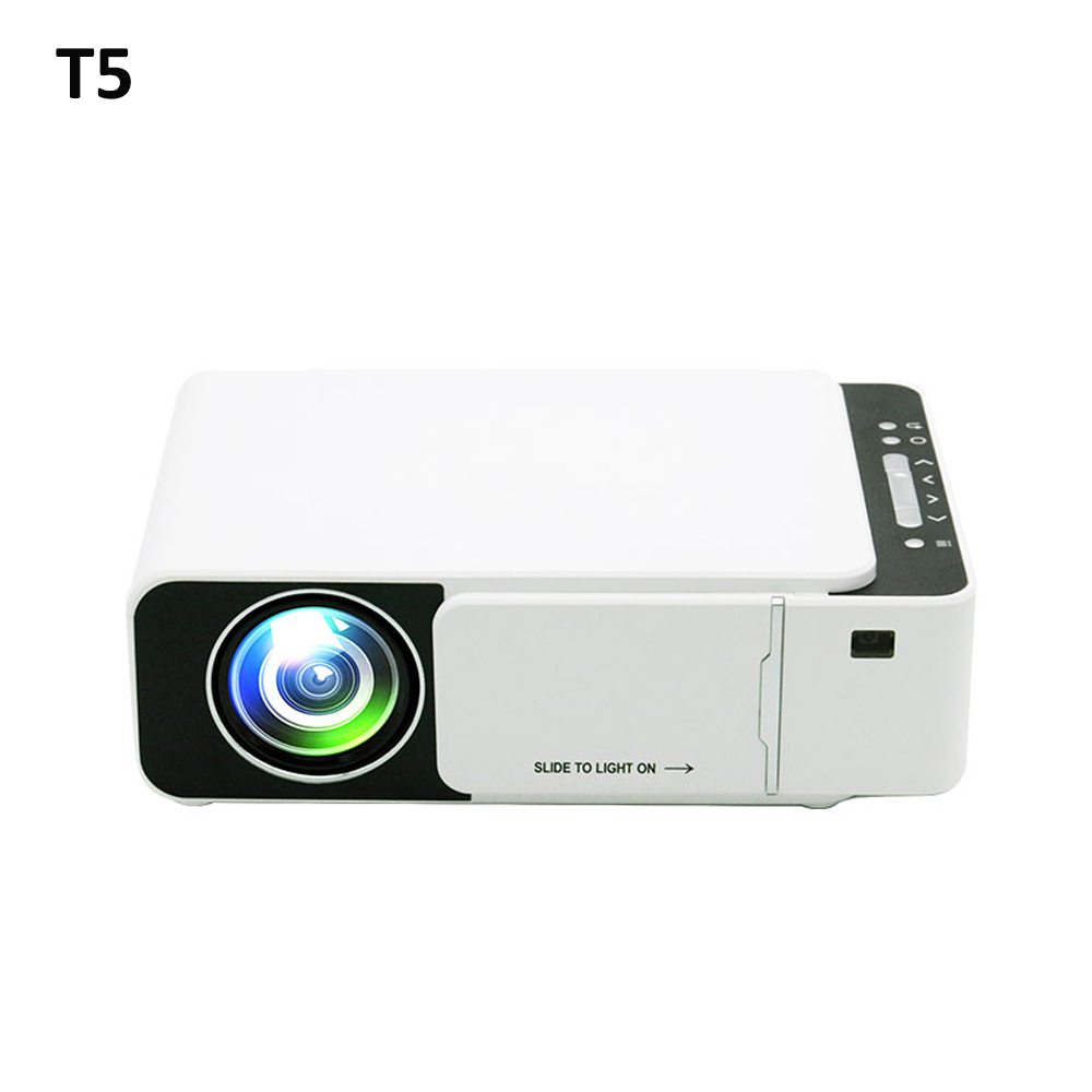 T5 LED Projector 800*480 Native Resolution 1080 HD Portable Video Projector WIFI Reay USB HDMI SD Audio Beamer for Home Cinema image