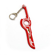 Hot Game Xenoblade Chronicles Monado Weapon Key Chain For Men Car Keychain Jewelry Accessories Birthday Jewelry Gifts hot game starcraft 2 zerg logo metal keychain for men jewelry