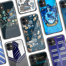 Ravenclaw symbol Hogwarts Tempered Glass Soft Silicone Phone Case Cover
